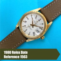 Rolex Oyster Perpetual Date Yellow gold 34mm White Roman numerals United States of America, Florida, Coral Gables