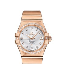 Omega Constellation Ladies Red gold 35mm Silver