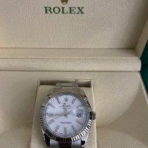 Rolex Datejust II occasion 41mm Blanc Date Acier