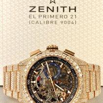 Zenith Pозовое золото Автоподзавод Прозрачный 44mm подержанные Defy El Primero