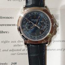 Patek Philippe Platinum Manual winding Blue Arabic numerals 42mm pre-owned Chronograph
