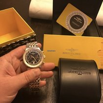 Breitling Montbrillant Légende usados 47mm Negro Cronógrafo Fecha Acero y oro