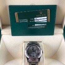 Rolex Day-Date II Witgoud 41mm Zilver Romeins Nederland, Leiden
