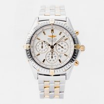 Breitling Shadow Flyback Gold/Steel 38mm White No numerals