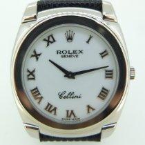 Rolex Cellini Danaos Or blanc Blanc Romains