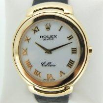 Rolex Cellini usados 37mm Blanco Piel