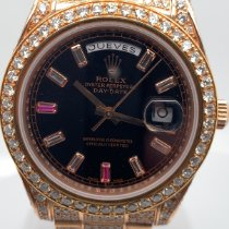 Rolex Day-Date II occasion 43mm Noir Date Affichage des jours Or rose