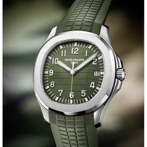 百達翡麗 Aquanaut 白金 42.2mm 綠色 阿拉伯數字 香港