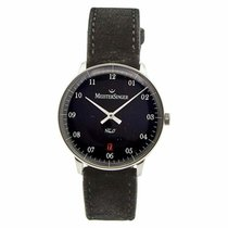Meistersinger Steel Automatic Black 36mm pre-owned Neo