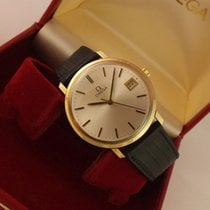 Omega Yellow gold Manual winding Silver No numerals 35,5mm pre-owned Genève