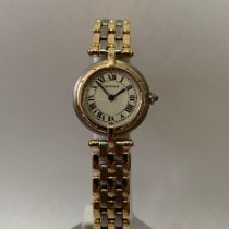 Cartier Panthère Goud/Staal 24mm Wit Romeins Nederland, Velp