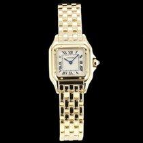 Cartier Gelbgold Quarz Champagnerfarben Römisch 21mm gebraucht Panthère