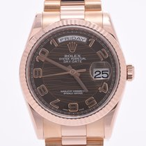 Rolex Or rouge Remontage automatique Brun 35mm occasion Day-Date 36