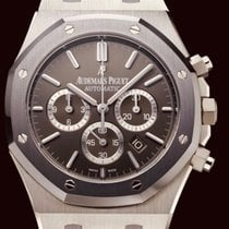 Audemars Piguet Royal Oak Chronograph Aço 41mm Cinzento Sem números