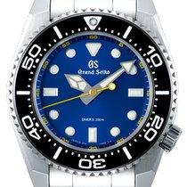 Seiko Grand Seiko Steel 43.6mm Blue No numerals