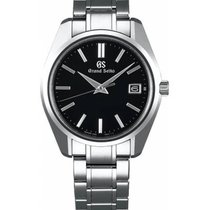 Seiko Grand Seiko Steel 40mm Black No numerals