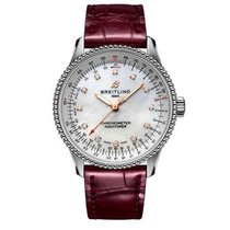 Breitling Navitimer Steel 35mm Mother of pearl No numerals