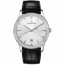 Jaeger-LeCoultre Master Ultra Thin Date White gold 40mm Silver No numerals