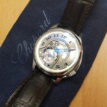Chopard neu Automatik Sichtboden Kleine Sekunde Leuchtzeiger Zeiger aus gebläutem Stahl Chronometer 41mm Stahl Saphirglas
