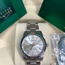 Rolex Oyster Perpetual 34 Steel 34mm Silver No numerals United States of America, New York, New York