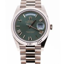 Rolex Red gold Automatic Green Roman numerals 40mm new Day-Date 40