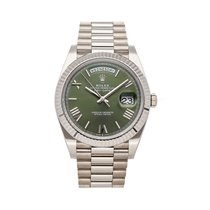 Rolex Day-Date 40 White gold 40mm Green United States of America, Pennsylvania, Bala Cynwyd