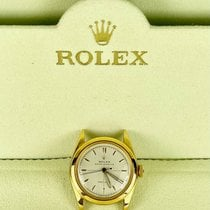 Rolex Yellow gold Automatic White pre-owned Oyster Precision