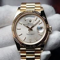Rolex Day-Date 40 Yellow gold 40mm Silver No numerals United States of America, Florida, Orlando