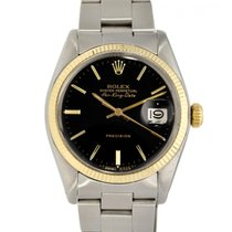 Rolex Air King Date Gold/Steel 36mm Black No numerals