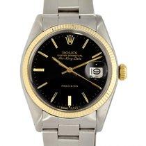 Rolex Air King Date Gold/Steel 36mm Black No numerals