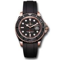 Rolex Yacht-Master 37 Růžové zlato 37mm Černá Bez čísel