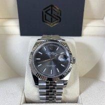 Rolex Datejust Acier 41mm Gris Sans chiffres