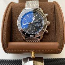 Breitling Superocean Heritage II Chronographe pre-owned 44mm Black Chronograph Date Weekday Steel
