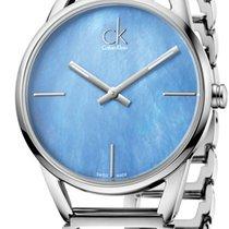 ck Calvin Klein new Quartz Luminous hands 33mm Steel Mineral Glass