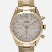 Rolex Chronograph Yellow gold 37mm Silver No numerals