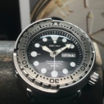 Seiko Marinemaster pre-owned 48mm Black Date Month Rubber