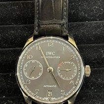 IWC Белое золото Автоподзавод Cерый Aрабские 42.3mm подержанные Portuguese Automatic