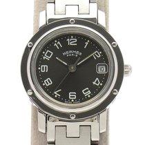 Hermès Clipper Stal 24mm Szary