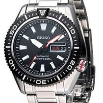 Seiko Superior Steel 43mm Black No numerals