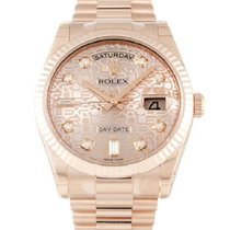 Rolex Rose gold Automatic Pink No numerals 36mm pre-owned Day-Date 36