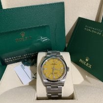 Rolex Oyster Perpetual 36 Steel 36mm Yellow No numerals