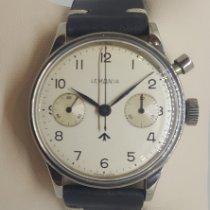 Lemania Steel Manual winding White Arabic numerals 40mm pre-owned