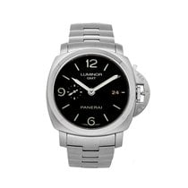 Panerai Luminor 1950 3 Days GMT Automatic pre-owned 44mm Black Date Fold clasp