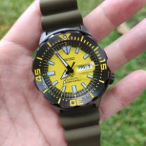 Seiko Monster Steel 42mm Yellow No numerals Indonesia, INDONESIA