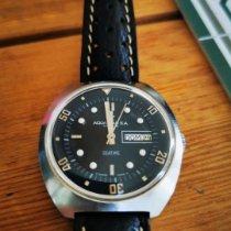 Aquastar Steel Automatic Blue No numerals 40mm pre-owned