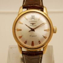 Longines Conquest Heritage Yellow gold 35mm Silver No numerals
