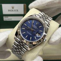Rolex Datejust Acier 41mm Bleu Sans chiffres France, Paris