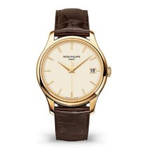 Patek Philippe Calatrava Yellow gold 39mm Silver No numerals United States of America, New York, New York