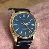 Rolex Oyster Perpetual 34 Or jaune 34mm Bleu Sans chiffres