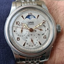 Oris Big Crown Complication Acier 38mm Argent Arabes